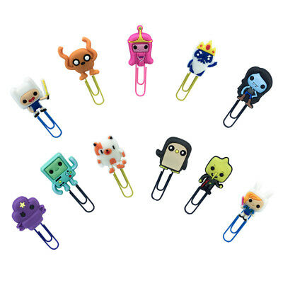 2pcslot Adventure Time Paper Clip Bookmark Office Binder School Stationery Gift