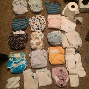 Cloth diapers, flushable liners, inserts, wool pants and shorts
