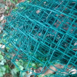 plastic covered wire fencing