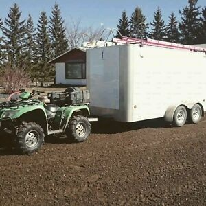$5000 REWARD! STOLEN TRAILER AND GUTTER MACHINE