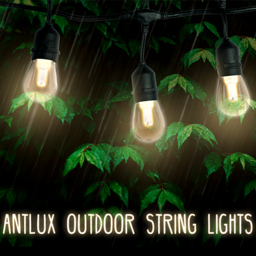 48FT LED Outdoor Patio String Lights - 15Pcs 1.5W Vintage Ed