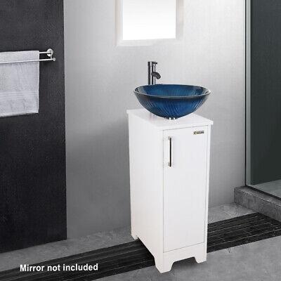"Eclife 14"" Bathroom Vanity Vessel Sink Cabinet Faucet Drain"