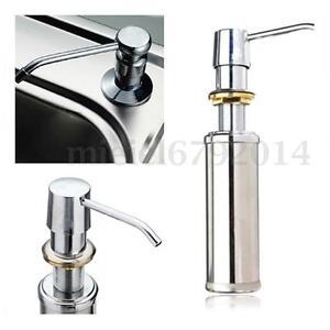 350ml Soap Shampoo Dispenser Faucet Sink Liquid Kitchen Bathroom Lotion Pump UK