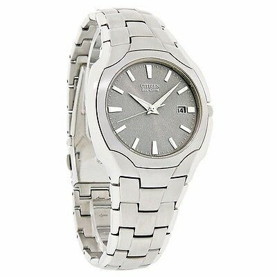 New Citizen Eco Drive Bm6010 55A Mens 180Pr Stainless Steel Gray Dial Watch