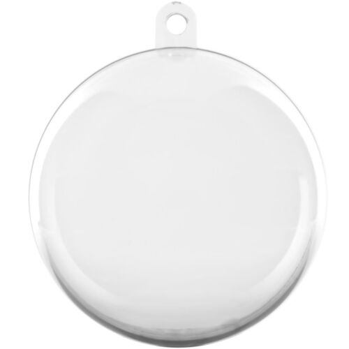 Clear+Bauble+x24+Fillable+Christmas+Decoration+%2860mm%29+Wedding+Favours