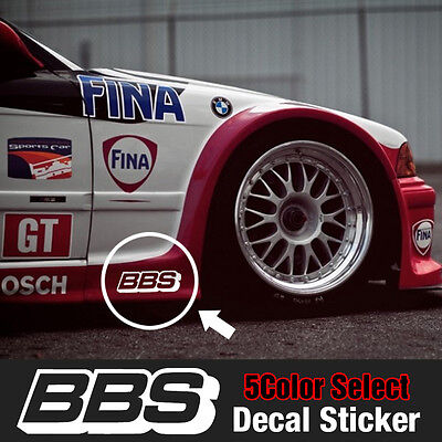 BBS Speed Mania Fashion Decal Sticker (2Pcs) 150mm x 50mm For All Vehicle