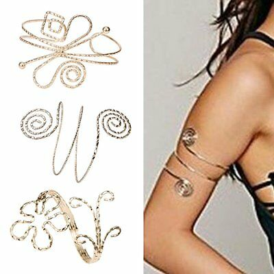 NEW Fashion Punk Swirl Upper Arm Cuff Armlet Armband Bangle Bracelet Gift - Arm Cuffs