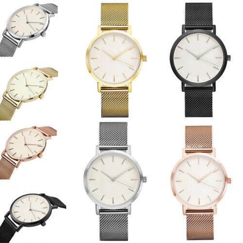 Damenuhr Armbanduhr Uhr Edelstahl Meshband Damen-uhr Armbanduhren lässig casual