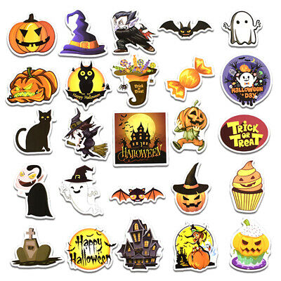 Cute Halloween Diy Crafts (25pcs Creative Self-made Handbook Cute Kawaii Halloween Stickers Funny DIY)
