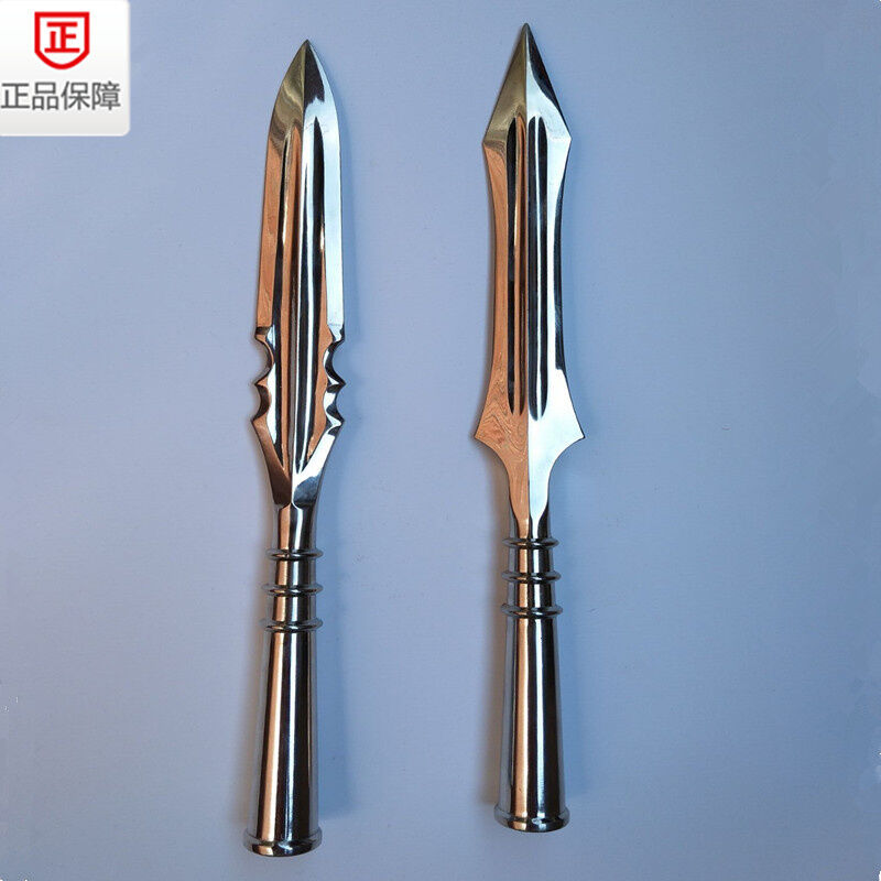 Chinese Martial Arts Stainless Steel Spearhead Wushu Spear Saber Kung Fu Sword