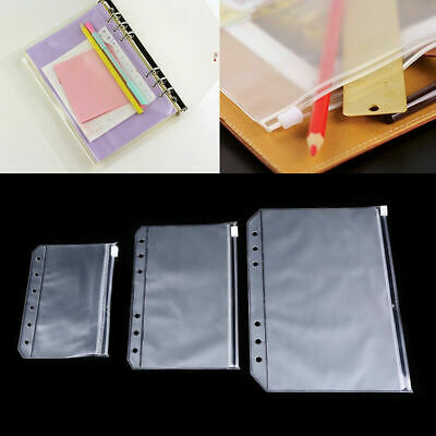 1-10pcs A5a6a7 Document File Pocket Folder Binder Punched Bag Office Storage