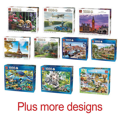 1000 Piece Jigsaw Puzzle Puzzles - Choice of 45 Animals Cities Landmarks Cottage