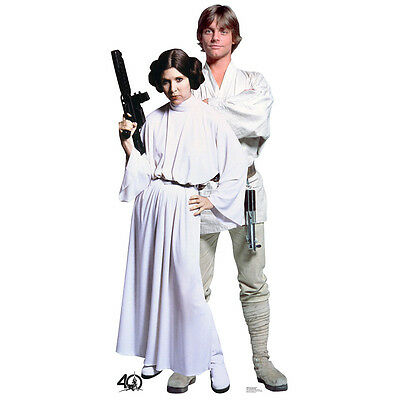 LUKE SKYWALKER & PRINCESS LEIA Star Wars CARDBOARD CUTOUT Standup Standee Poster](Star Wars Cutouts)