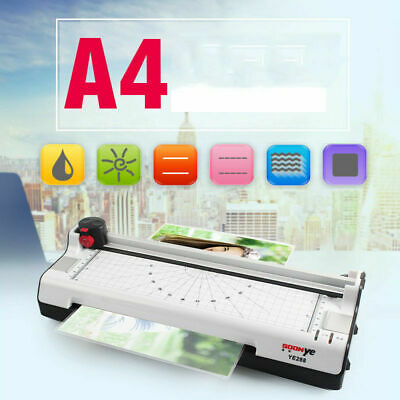 Hot Cold Fast Warm-up Roll A4 9 Photo Paper Film Document Laminator Thermal