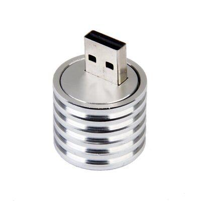 Aluminum 3W USB LED Lamp Socket Spotlight Flashlight White Light