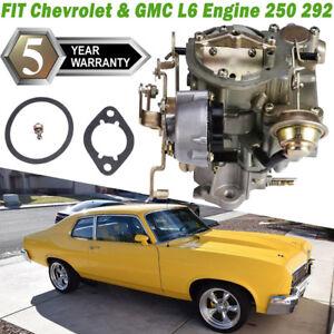 Rochester Style 1 Barrel Carburetor Fits 1966-1988 Chevry GMC L6 6CYL 250 292 US