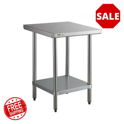 24 X 24 18 Gauge 304 Stainless Steel Commercial Work Table With Galvanized Leg