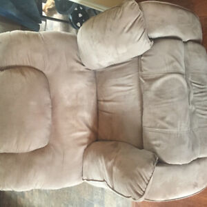 Reclining couch and two recliners