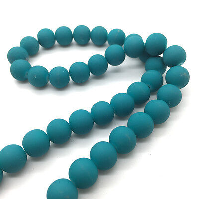 New 100pcs 4mm Charm Matte Rubber Neon Round Glass Spacer Loose Beads #XPZ19