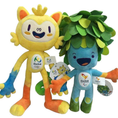 New Brazil Rio 2016 Olympic Games Plush Toy Mascot Vinicius and Tom
