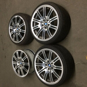 """BMW E46 M3 OEM 19"""" rims and tires"""