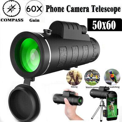 Professional HD 50X60 Military Army Optics Zoom Monocular Day/Night Telescope UK
