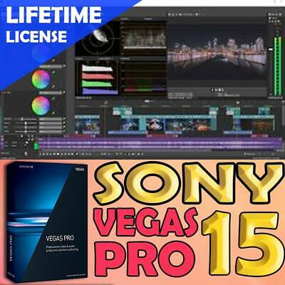 Sony VEGAS Pro 15 - Video and Audio Editing Full Software | Lifetime License