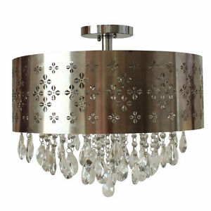 Chandelier parts: stainless steel shade never used