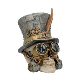 Steampunk skull ornament