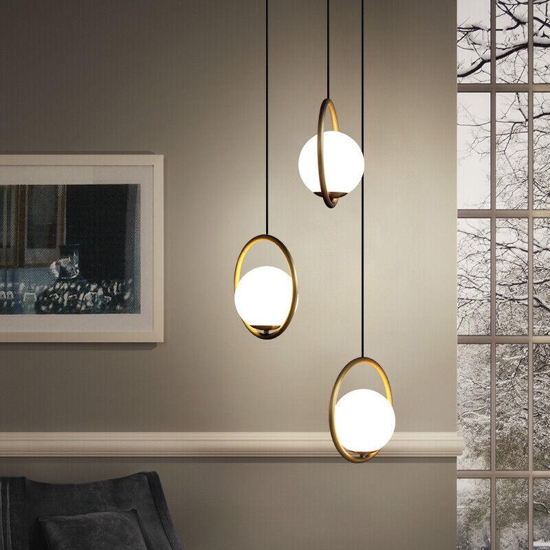 Details about Glass Pendant Light Kitchen Lamp Bar Modern Pendant Lighting  Room Ceiling Light