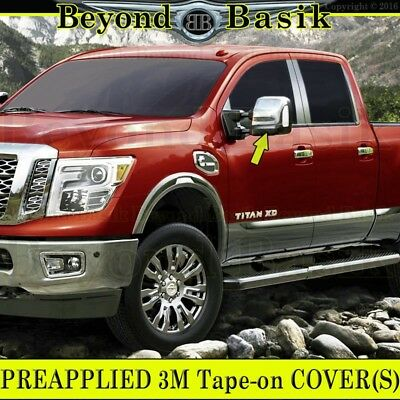 - For 2016-2019 NISSAN TITAN XD Chrome Mirror Covers Towing W/Turn Signal Hole