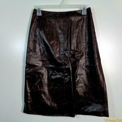 GAP Long Sexy Soft Leather Skirt Size 2 Brown
