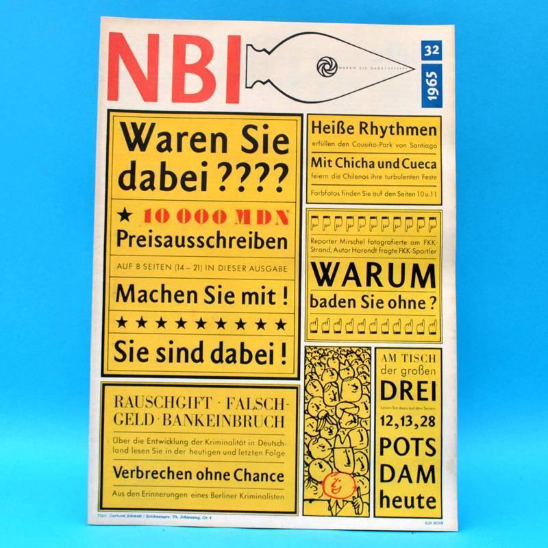 DDR NBI 32/1965 FKK Bundestag Chile Potsdam Afghanistan Berliner Ensemble L