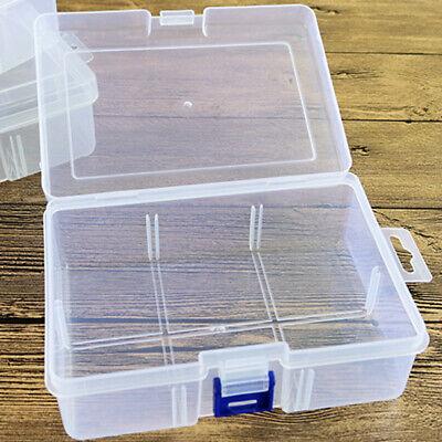 Nuevo de Calidad Plástico Transparente Caja Almacenaje con Tapas Hogar Oficina