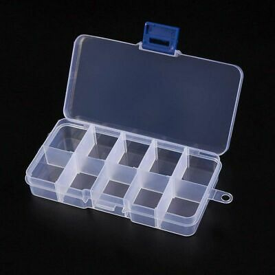 Clear Jewelry Box 12-Pack Plastic Bead Storage Container Earrings Organizer