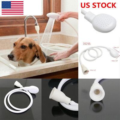 US Single Tap Sink Bath Shower Head Dog Pet Washing Holder Attachment Hose Spray