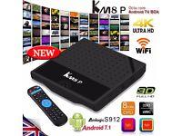 KM8P Android 7.1 Amlogic S912 Octacore 4K WiFi OTA 3D HDMI Smart TV Box