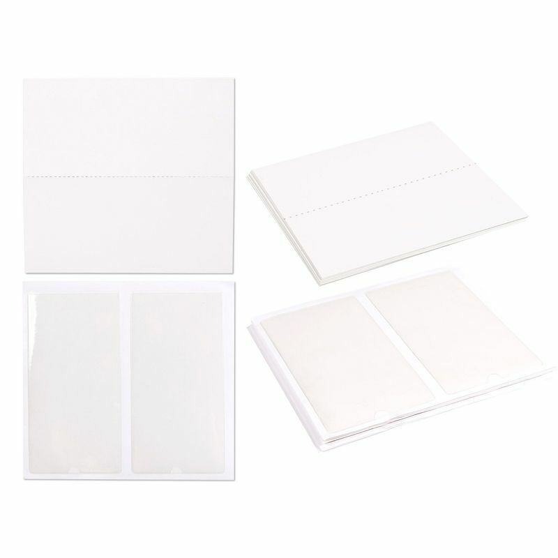 24PCS Self-Adhesive Label Holder Pockets with Blank Insert Cards - Clear