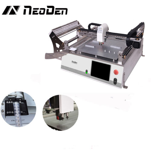 led light PCB making machine pick and place work of NeoDen3V for smt productionJ