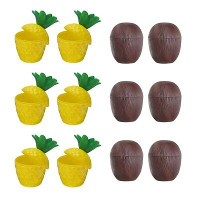 Tropical Pineapple Coconut Drink Cups Plastic Hawaii Party Cups - Coconut Cups