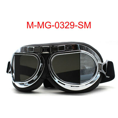 Retro Vintage Aviator Pilot Motorcycle Cruiser Scooter Biker Goggles For Harley](Aviator Goggles)