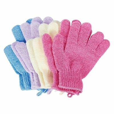 Juvale Exfoliating Spa Bath Gloves Shower Clean Body and Face (4 Pairs)