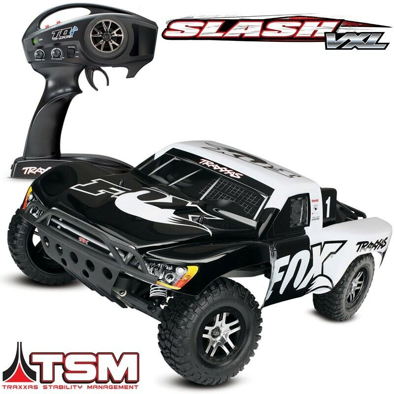 Details about Traxxas Slash VXL Brushless 2WD 58076-4 RTR RC Truck FOX  RACING EDITION w/TSM
