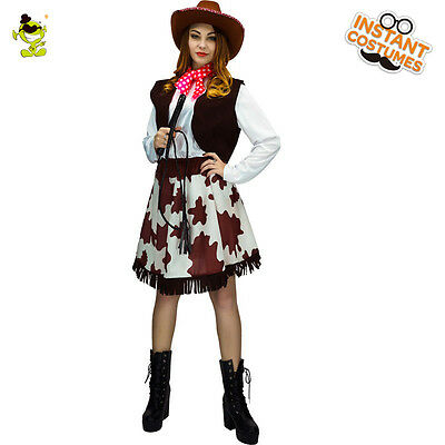 Adult 's Western Cool Women Cowgirl Role Cosplay Fancy Outfit for Carnival Show - Cowgirl Outfits For Ladies