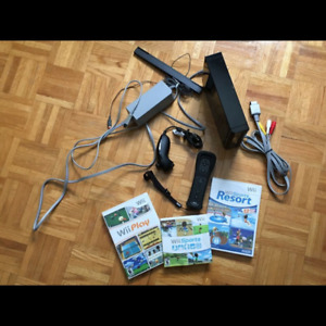 NINTENDO WII WITH 3 GAMES!