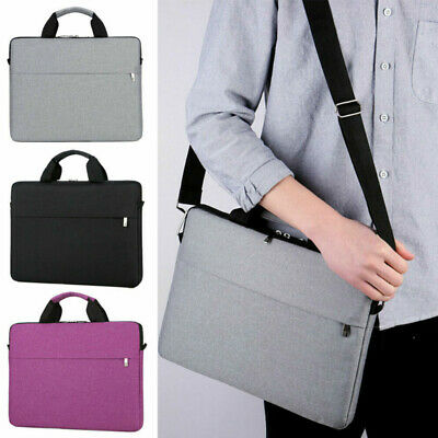 15.6 inch Waterproof Laptop PC Shoulder Bag Carrying Soft Notebook Case Cover UK
