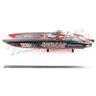 FiberGlass G30E ARTR Gas 30CC Engine RC Racing Boat Catamaran Pull Start Spider
