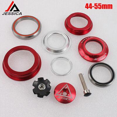 MTB Bike 34//44//55//56mm Bearings Headset Straight//Tapered Tube For 28.6mm Fork