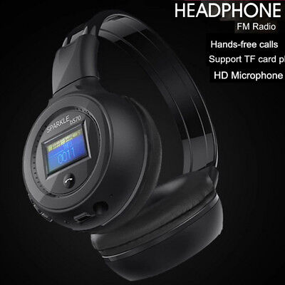LED Headphones Earphones Wireless Bluetooth Headset Foldable Mic TF Slot Gaming