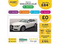 White AUDI A6 AVANT ESTATE 2.0 3.0 TDI Diesel SPORT S LINE FROM £84 PER WEEK!